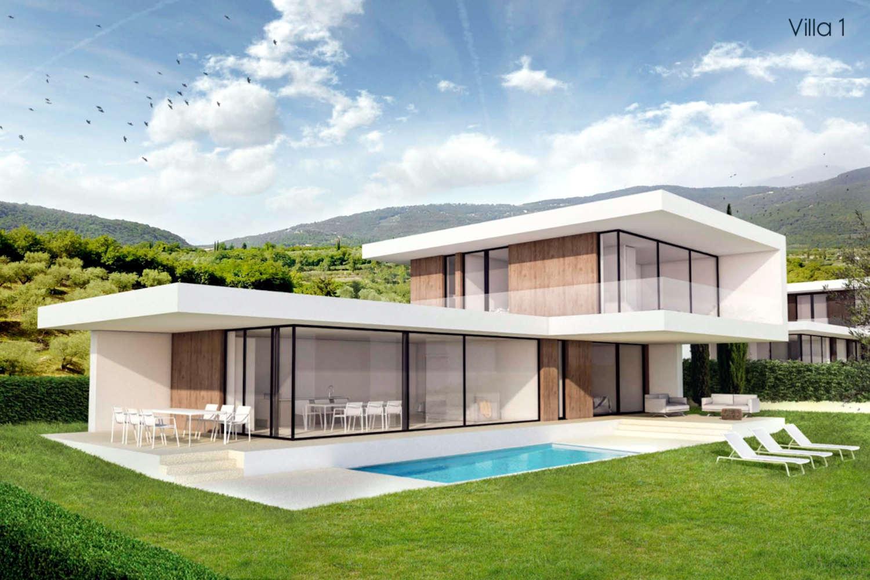 Villa Garda Seeblick in Panoramalage und Pool