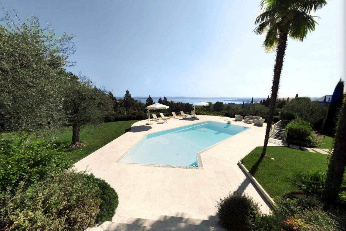 Villa Padenghe Verkauf mit Seeblick und Panoramapool 01