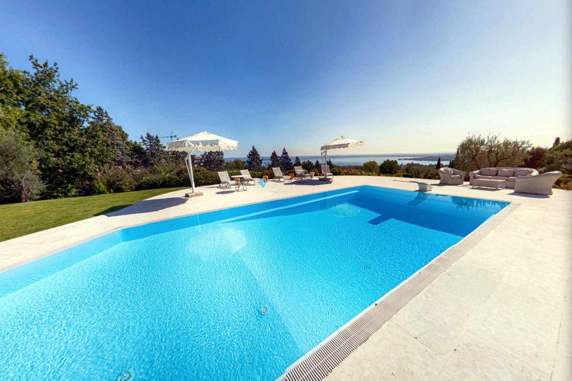 Villa Padenghe Verkauf mit Seeblick und Panoramapool 02