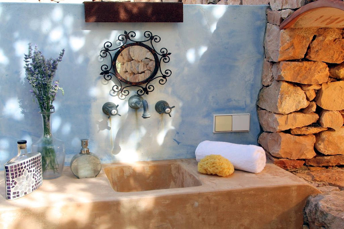 Luxusvilla Formentera zur Miete mit Pool und Wanne