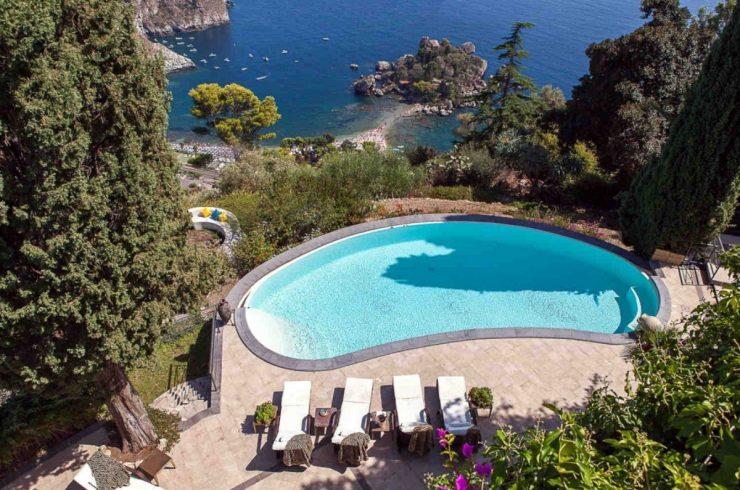 Luxuriöse Villa Taormina zur Miete mit Meerblick